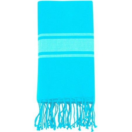 Fouta plate Turquoise